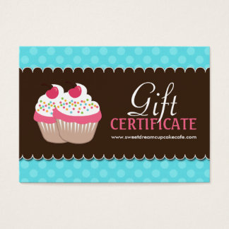 Bakery certificate template office supplies stationery zazzle customizable cupcake gift certificate yelopaper Images