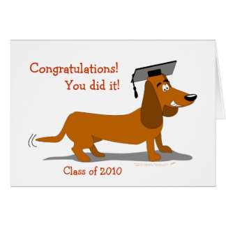 Customizable Dachshund Dog Graduation Template