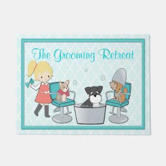 Customizable Dog Groomer Pet Salon Door Mat