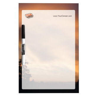 Customizable dry erase board in sunset colors