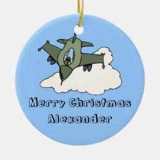Customizable F16 Fighting Falcon Design Christmas Ornaments