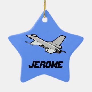 Customizable F16 Fighting Falcon Design Christmas Tree Ornament