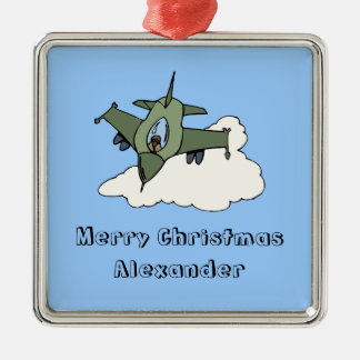 Customizable F16 Fighting Falcon Design Christmas Tree Ornaments