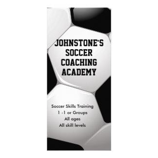 Customizable Football Soccer Coaching Business Rack Card