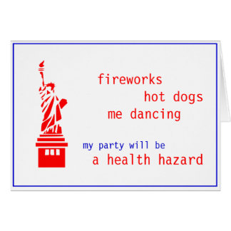 Customizable Fourth 4th of July Party invite Card