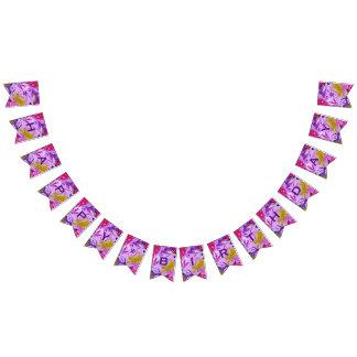 Customizable Happy Birthday Purple & Abstract Bunting