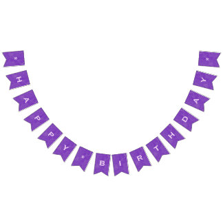 Customizable Happy Birthday Purple Party Banner