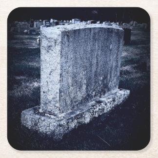 Customizable Headstone Halloween Square Coasters