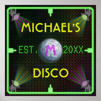 Customizable Home Bar 1970 s Disco Ball Posters