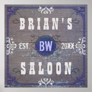 Customizable Home Bar Beer Saloon Poster