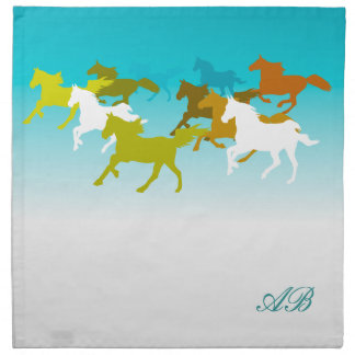 Customizable: Horses run free Napkin