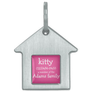 customizable ID  pet tags for cat