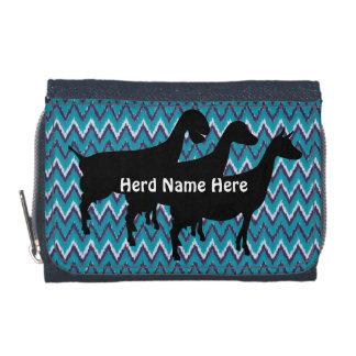 Customizable iKat ZigZag  Goat Herd Name Wallet
