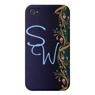 Customizable Initial 4 iPhone 4/4S Covers