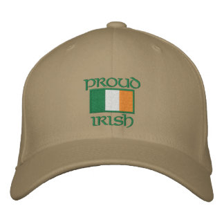 Customizable Irish Flag Hats Embroidered Hat