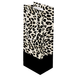 Customizable Leopard Print Gift Bag