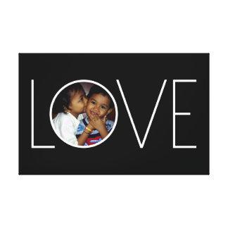 "Customizable ""Love"" Photo Frame Canvas Print"