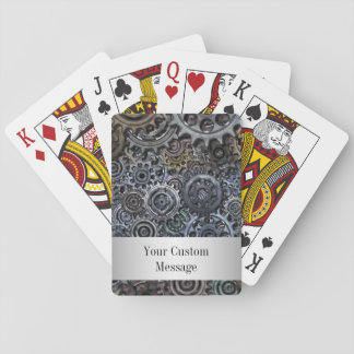Customizable Metal Gear Design Poker Deck