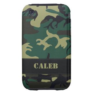 Customizable Military Camo Tough iPhone 3 Case