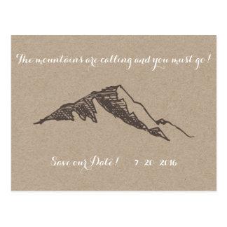 Customizable Mountain Save the Date Postcard