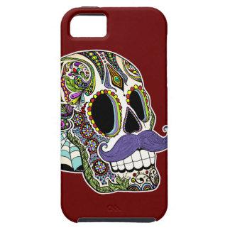 Customizable Mustache Sugar Skull Phone Case