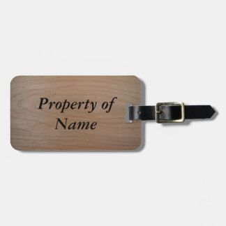 Customizable Name, Luggage Tag w/ leather strap