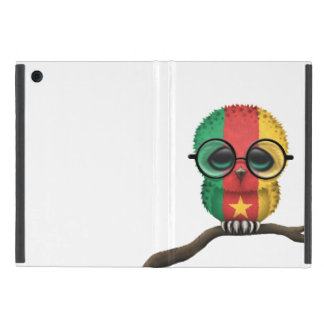 Customizable Nerdy Cameroon Baby Owl Chic iPad Mini Cases