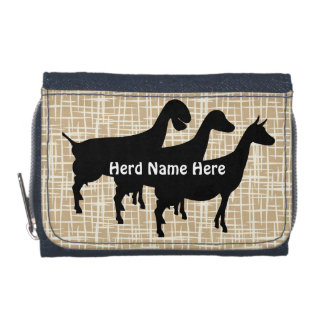 Customizable Neutral Lines Goat Herd Name Wallet