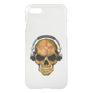 Customizable New Mexico Dj Skull with Headphones iPhone 7 Case