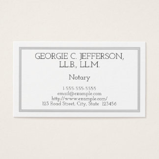 Customizable Notary Business Card