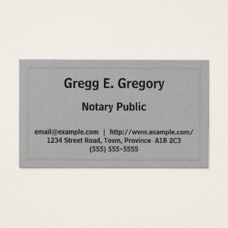 Customizable Notary Public Business Card