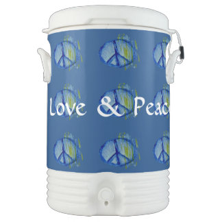 Customizable Painted peace sign Drinks Cooler