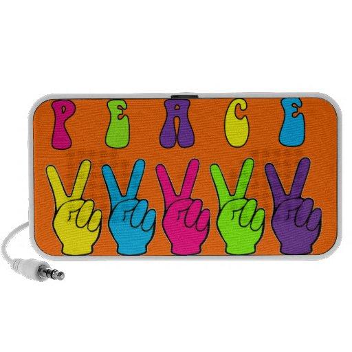 Customizable Peace Hands iPod Speakers