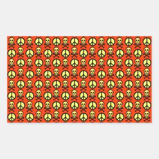 Customizable Peace Skulls Rectangle Sticker