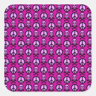 Customizable Peace Skulls Sticker