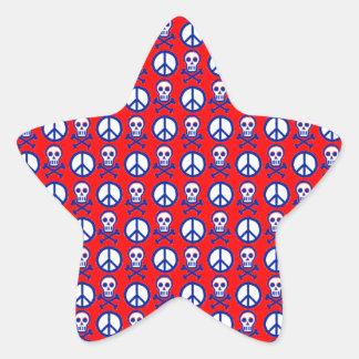 Customizable Peace Skulls Stickers