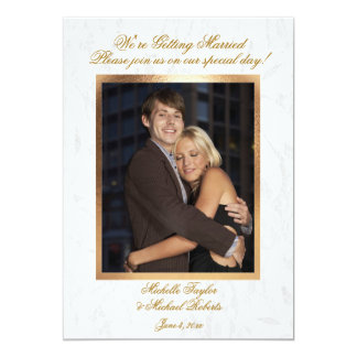 Customizable Photo Wedding Invitation
