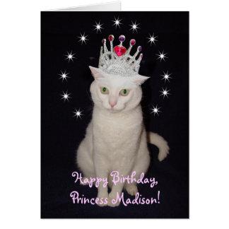 Customizable Princess Birthday Card