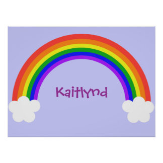 Customizable Rainbow Poster