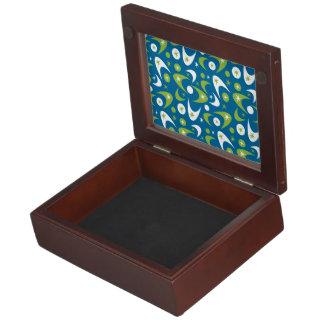 Customizable Retro Boomerangs Keepsake Box