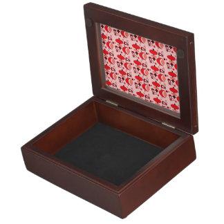Customizable Retro Shapes Keepsake Box