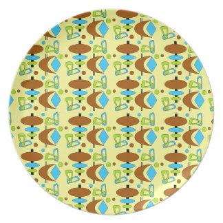 Customizable Retro Shapes Plates