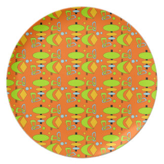 Customizable Retro Shapes Plate