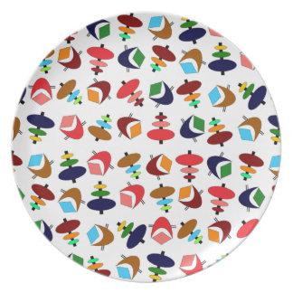 Customizable Retro Shapes Dinner Plates