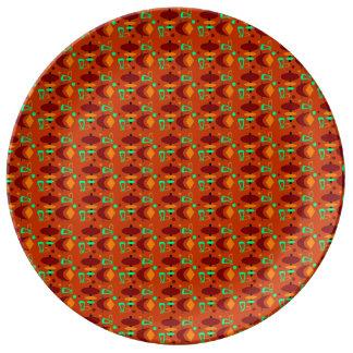 Customizable Retro Shapes Porcelain Plates