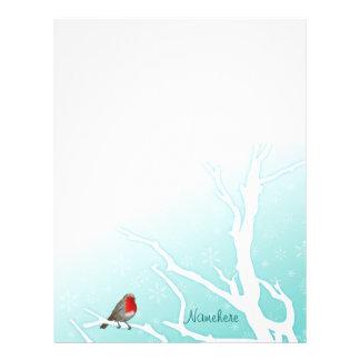 Customizable: Robin in a tree Letterhead