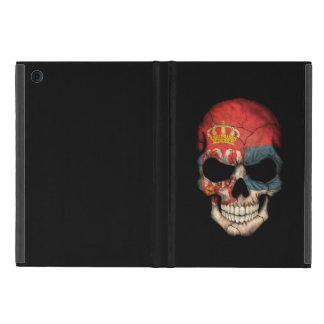Customizable Serbian Flag Skull Covers For iPad Mini