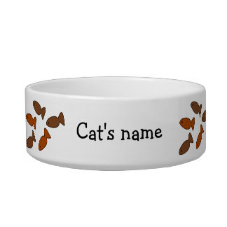 Customizable Slogan Cat Biscuit Treats Pet Water Bowl