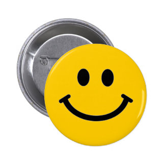 Customizable Smiley Face Button Pin