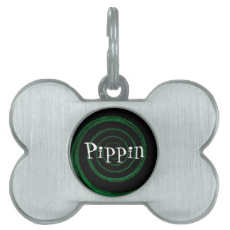 customizable spiral pet tag - Pippin